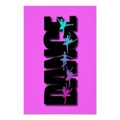 Dance Colored Ballerinas Print