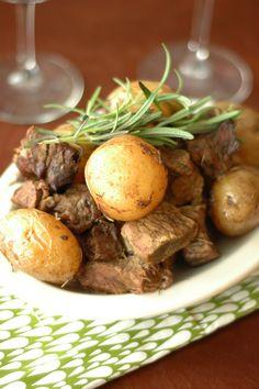 Crockpot Honey Rosemary Steak and Potatoes