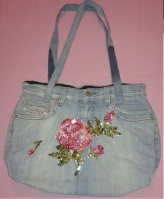 Hand Made Jean Bag