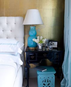 Miles Redd bedroom design in February 2014 House Beautiful Photography by Frederic Lagrange