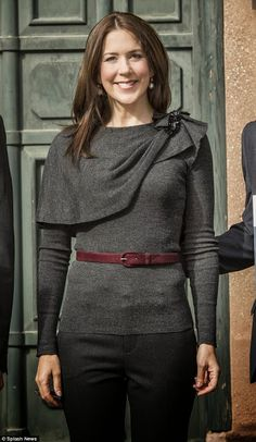 Crown Princess Mary of Denmark attended the award ceremony of the scholarships to the two Australian exchange students at the University of Copenhagen on May 7, 2015 in Copenhagen, Denmark