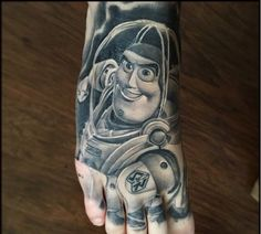 To Infinity and Beyond! Buzz Lightyear Toy Story tattoo By Brian Gonzales