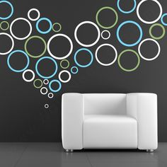 Rings and Dots Wall Decals with chairs and a table.....maybe for my bedroom.