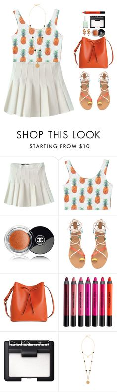 """Fresh."" by shadowofday ❤ liked on Polyvore featuring Chanel, Lodis, Urban Decay, NARS Cosmetics, Heather Hawkins and Essie"