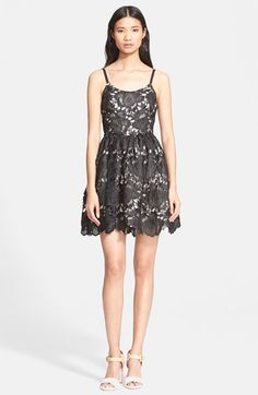 Alice + Olivia Lace Fit & Flare Dress available at #Nordstrom