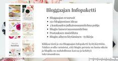 Bloggaajan Infopaketti | Saat 6 maksutonta opasta ja työkirjaa, joiden avulla otat bloggaamisen haltuun tehokkaasti | Tiia Konttinen | www.tiiakonttinen.fi