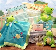 Little Prince or Princess Froggy Gift Set from Baby Gifts and Gift Baskets - Frog Baby Shower #babyshower