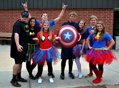 superhero couple costumes @princessshelbyk I like the super man (girl) tutu! you could make this :)