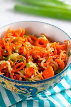 Spiralized Sesame Carrot Salad