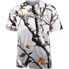 Backwoods Big Game Snow Camo Short Sleeve T-Shirt at Legendary Whitetails
