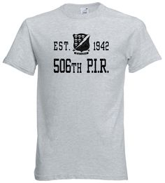 Currahee 506 PIR WWII Tshirt US Army Paratrooper Band of Brothers M1 Garand  #Handmade #GraphicTee