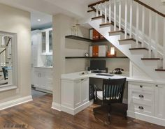 Use the area under the stairs as an office space www.OceanClubRealty.com
