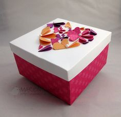 Adorable handmade DIY box with cute matching lid.