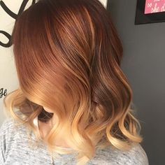 copper colour melt hair - Google Search