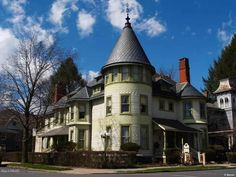 An Incredible piece of history. Original part of home began as smaller 2 story Italianate home in 1864. In 1887 expanded into the fabulous Queen Anne Mansion