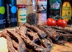 Easy recipe and directions for making healthy organic delicious biltong at home. How to make authentic South African tasting biltong and dry wors. How To Make Chili, How To Make Sausage, Sausage Making, Great Recipes, Keto Recipes, Favorite Recipes, Interesting Recipes, Zimbabwe Food, Biltong