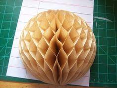 How to make honeycomb paper balls (31)