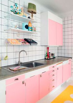 K, we want a pink kitchen.