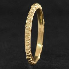 Iapetus bauble 9ct gold thin ring by Malcolm Morris