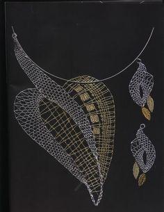 Lace Necklace, Lace Jewelry, Jewelery, Handmade Jewelry, Bobbin Lacemaking, Lace Making, Silk Ribbon, String Art, Wool Yarn
