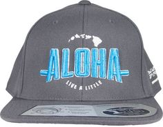 "Local Motion Aloha ""Live a Little"" Hawaiian Style SnapBack Hat"