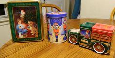 3 Collectible Vintage Christmas TinsUnlock the by ZiggyzAttic