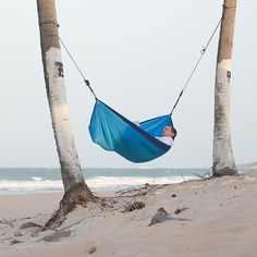 Chillax Parachute Travel Hammock - Blue | Costco UK -