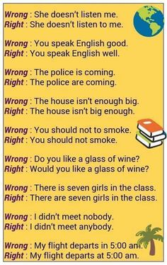Common Mistakes in English - ESLBuzz Learning English : What are some common mistakes in English, and how can you avoid them . What are some common mistakes in English, and how can you avoid them. English Vinglish, Better English, English Sentences, English Tips, English Vocabulary Words, English Idioms, Learn English Words, English Phrases, English Writing