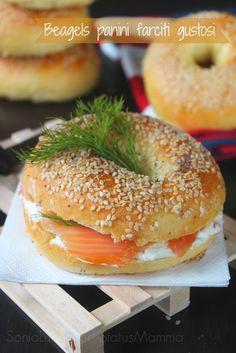 Beagels panini farciti gustosi | Status mamma
