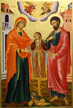 Heilige Anna, Maria en heilige Joachim