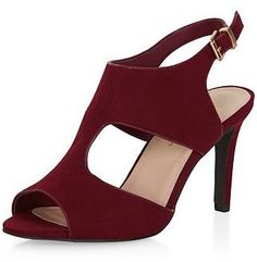 113466b918797 Womens burgundy heels from New Look - £22.99 at ClothingByColour.com  Soulier, Chaussure