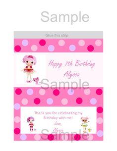 Cute Lalaloopsy invitation