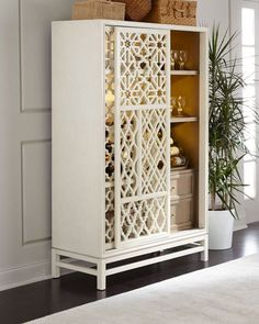 Shop Karis Hardwood Wine Cabinet at Horchow, where you'll find new lower shipping on hundreds of home furnishings and gifts. Wardrobe Furniture, Home Decor Furniture, Home Furnishings, Furniture Design, Tall Bar Cabinet, Sofa Design, Interior Design, Wine Cabinets, Dream Decor