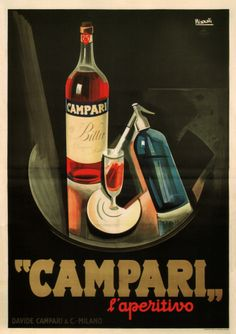 """""""Campari"""" Poster by Marcello Nizzoli (1926) http://webposters.adm.ntu.edu.sg/site/page/poster/5275"""