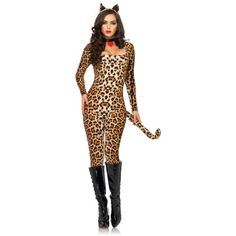 Sexy Cougar Catsuit Women's Costume
