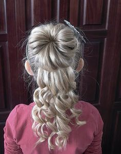 Shaunell's Hair: How to do little girls hairstyles: Half Bun Curly Updo Video Tutorial