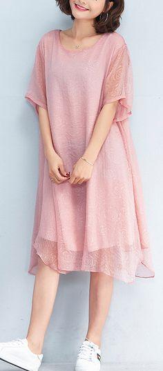 fashion-pink-pure-chiffon-dresses--plus-size