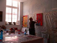 Eindrücke aus dem Atelier  Walburga Schild-Griesbeck