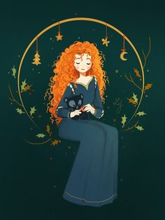 Christmas Merida from Ludmila-Cera-Foce - Favorite Disney Fan Art - Disney Kunst, Arte Disney, Disney Fan Art, Disney Magic, Disney And More, Disney Love, Disney Animation, Disney And Dreamworks, Disney Pixar