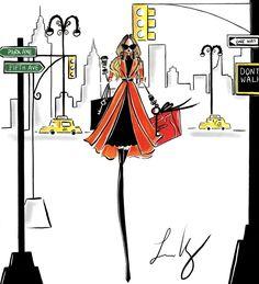 NYFW Live Fashion Illustration