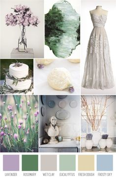 lavender and herb wedding inspiration board