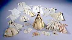 Doll, c.1790, with clothing that included everything from shift and stays to gowns and hats.