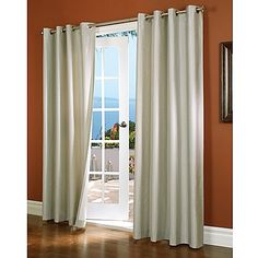 Insulated to be both energy efficient and to black out light, the Horizon Insulated Window Curtain Panel features a dupioni weave for a stylish touch. The panel measures 54 W, and hangs from silvertone grommets.