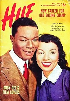 Hue Magazine, May 1958, Nat King Cole & wife cover