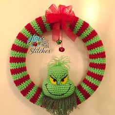 Just in time for Christmas! I am posting my Grinch wreath pattern for you to enjoy. If you find any errors or have any questions, please let me know :) If you use Ravelry, pleasebe sure to add you…
