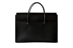 "13"" laptop bag vegtan leather briefcase in black"