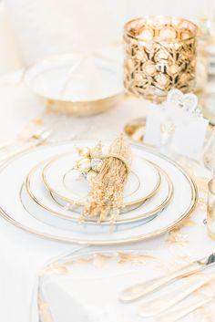 Glamorous Wedding Plate Setting - Lula King Photography