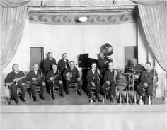 """Seattle Fire Department orchestra, circa 1920s. Jim's grandparents, Harry & Shirley, were Seattle firefighters and Grandma Shirley's parents played in a """"big band"""" in Seattle clubs way back when. Fascinating."""