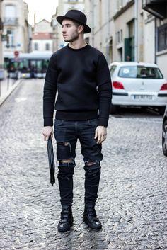 all black fashion men - Recherche Google