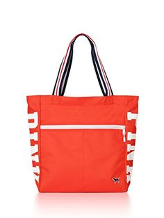 d20a5aa3b6 Victoria s Secret PINK Zip Tote Neon Coral VS PINK Spring Logo